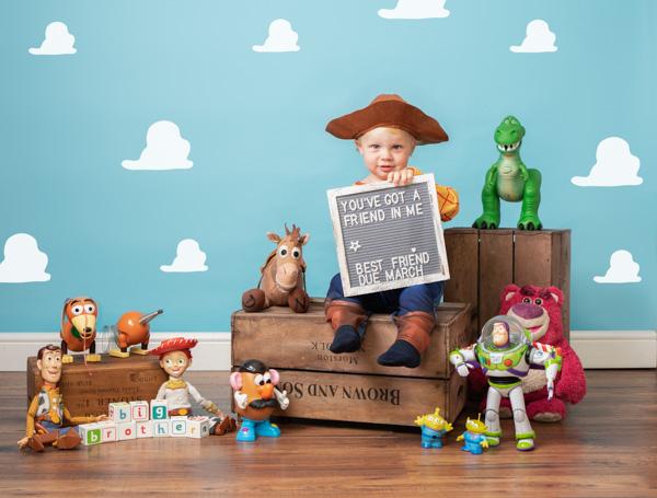 Toy Story themed studio photoshoot for children
