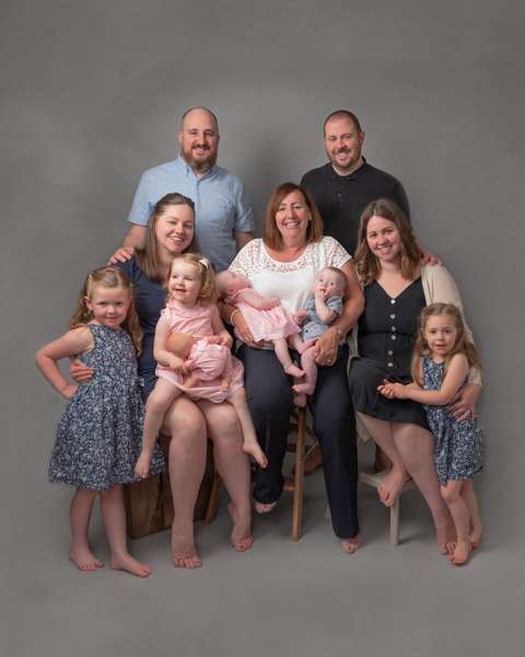 extended family of men and women - generations