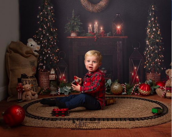 Sitter photoshoot for Christmas